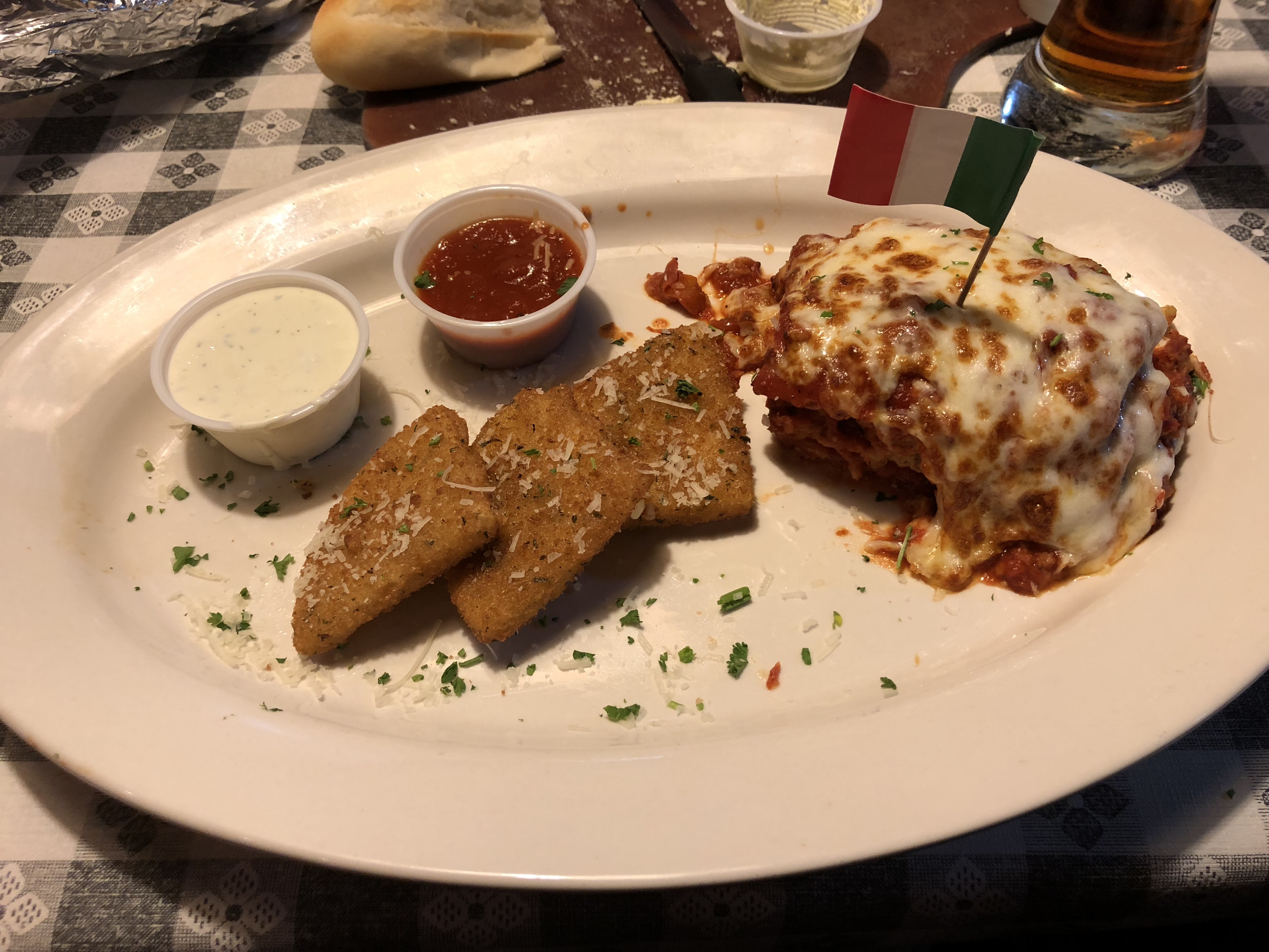 Cheese Fritters and Lasagna on 04-07-2018