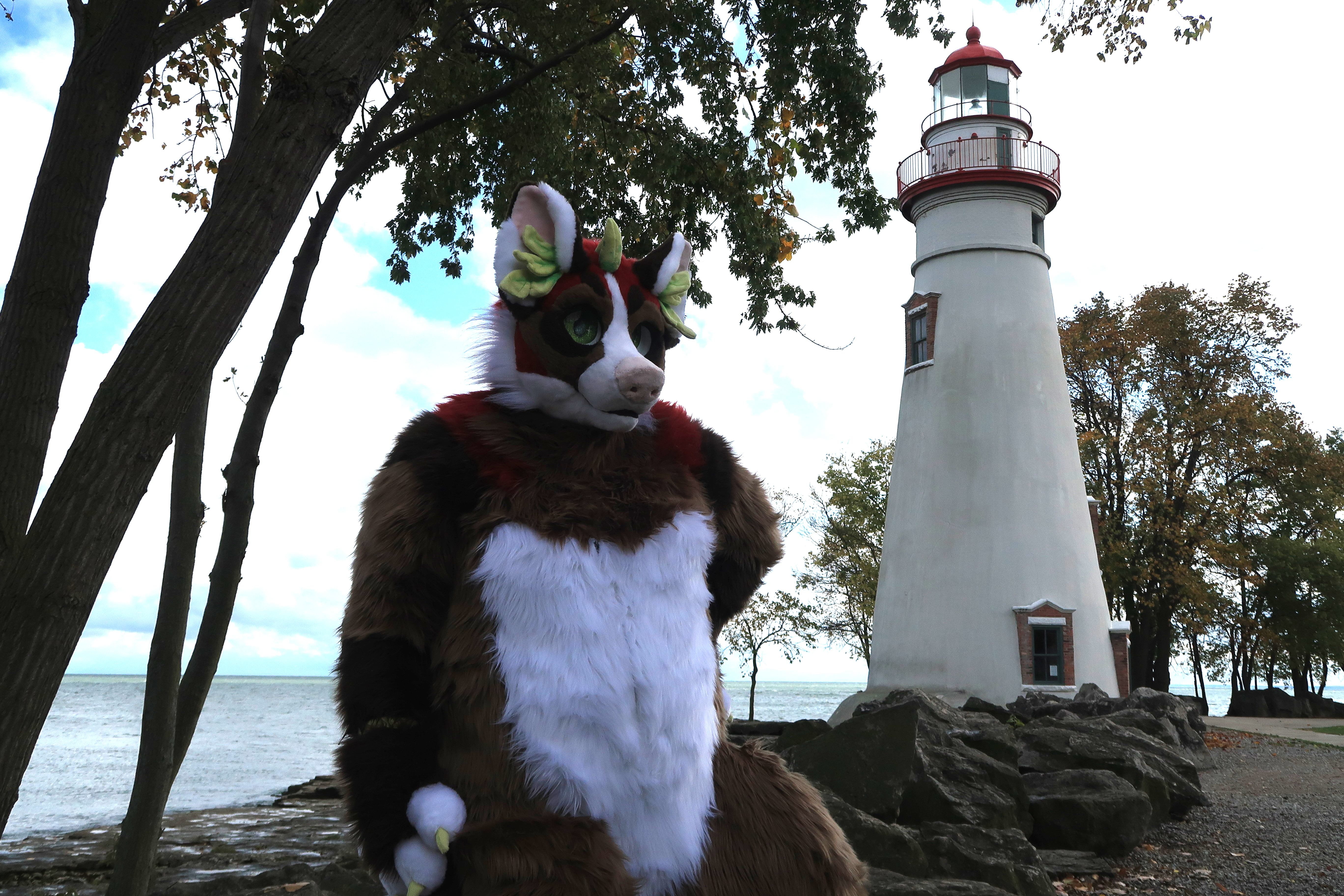 Marblehead, Ohio - Sassy Dragon with Shandra Dragon and Connor Goodwolf
